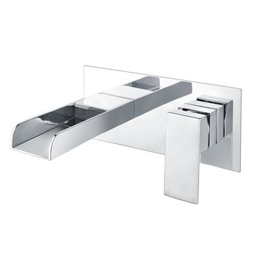 Vellamo Reve Waterfall Wall Mounted Basin Mixer Tap