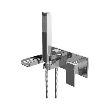 Vellamo Reve Waterfall Wall Mounted Bath Shower Mixer Tap