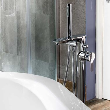 Vellamo Scene Freestanding Bath Shower Mixer Tap