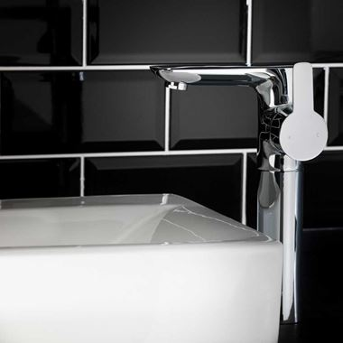 Vellamo Scene Tall Tower Basin Mixer Tap