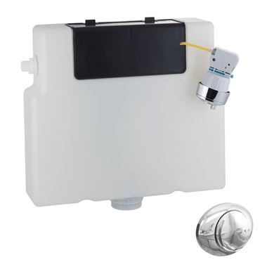 Vellamo Slim Dual Flush Concealed Cistern - Fits in 100mm Stud Wall