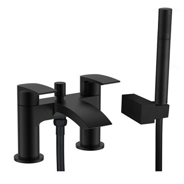 Vellamo Swift Matt Black Bath Shower Mixer & Kit