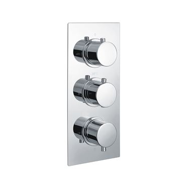 Vellamo Twist 2 Outlet Thermostatic Concealed Shower Valve (3 Handles)