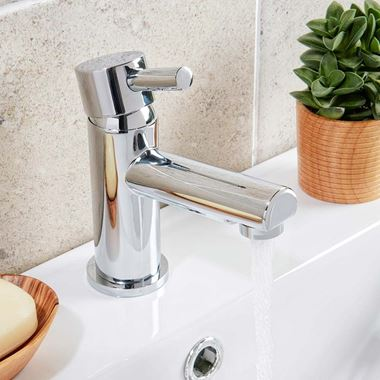 Vellamo Twist Basin Mixer Tap with Waste