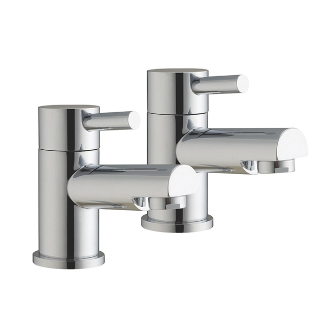 Vellamo Twist Basin Pillar Taps