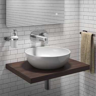 Vellamo Walnut Floating Shelf Including 2 Brackets