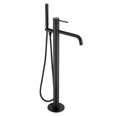 VOS Floorstanding Bath Shower Mixer - Matt Black