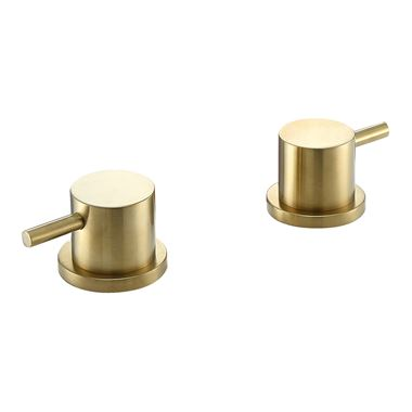 VOS Panel On/Off Valves - Brushed Brass