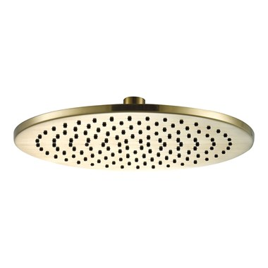 VOS Round 250mm Overhead Shower - Brushed Brass