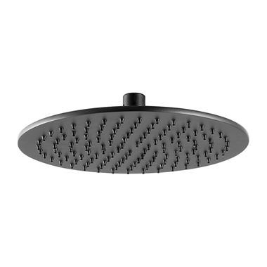 VOS Round 250mm Overhead Shower - Matt Black